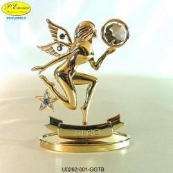 ZODIAC SIGN - VIRGIN GOLD - cm. 9x8 - Swarovski Elements