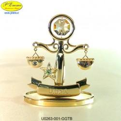 Zodiac sign - LIBRA GOLD - cm. 8x7 - Swarovski Elements