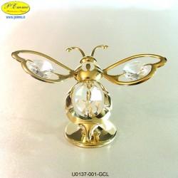 APE GOLD - cm. 8x10 - Elementi SWAROVSKI