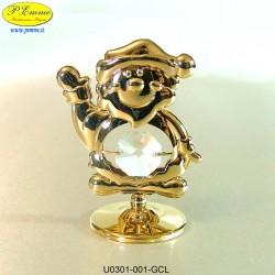 BABBO NATALE GOLD - cm. 6x6 - Elementi SWAROVSKI