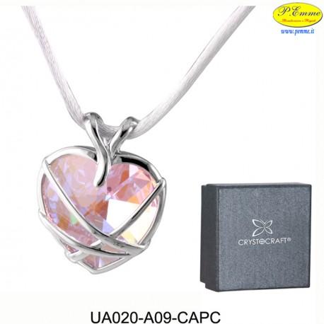 NECKLACE GREAT SILK - cm LACE. 4 X 3 (pendant) - Swarovski Elements