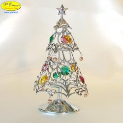 CHRISTMAS TREE SILVER - Cm. 15.5 x 8.5 - Swarovski Elements