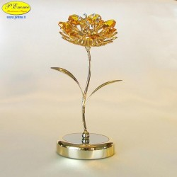 SUNFLOWER WITH BASE DELUXE GOLD - Cm. 14 x 7 - Swarovski Elements