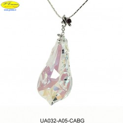 NECKLACE WITH PENDANT AMETHYST - Swarovski Elements