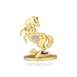 GOLD HORSE RAMPANTE - CM.9X7 - Swarovski Elements