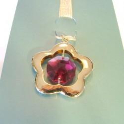 BOOKMARK GOLDEN - cm. 3.5 X 3 (pendant) - Swarovski Elements