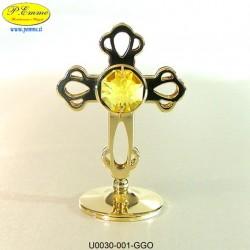 CROCE GOLD - cm. 7x5 - Elementi SWAROVSKI