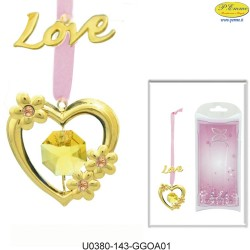 "BOOKMARK ""LOVE"" GOLD - Swarovski Elements"