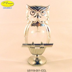OWL SILVER - Swarovski Elements