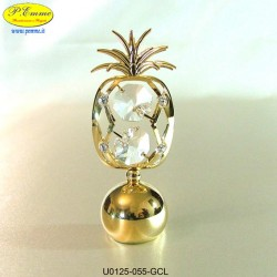 PINEAPPLE ON BALL GOLD - cm. 8 x 3 - Swarovski Elements