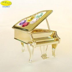 GRAN PIANO GOLD - Cm. 10 x 8 - Elementi SWAROVSKI