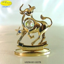 ZODIAC SIGN - GOLD BULL - cm. 9x7 - Swarovski Elements