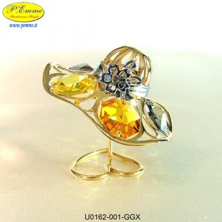 HAT FOR LADY GOLD - cm. 6x5 - Swarovski Elements