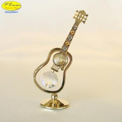 CLASSICAL GUITAR GOLD - Cm. 11 x 5.5 - Swarovski Elements