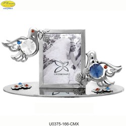SILVER FRAME WITH DOVES - Swarovski Elements