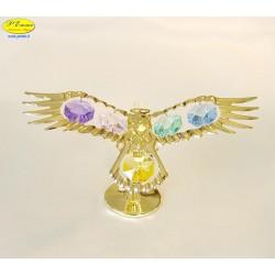 AQUILA REALE GOLD - Cm. 11,5 x 6 - Elementi SWAROVSKI