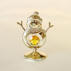 SNOWMAN GOLD - Cm. 6.5 x 5 - Swarovski Elements