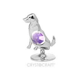 DOG SILVER WITH CLEAR CRYSTAL - Swarovski Elements