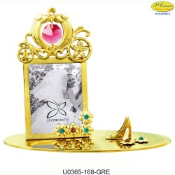 GOLD FRAME WITH CAB - Swarovski Elements