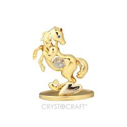 GOLD HORSE RAMPANTE - CM.9X7 - Swarovski Elements