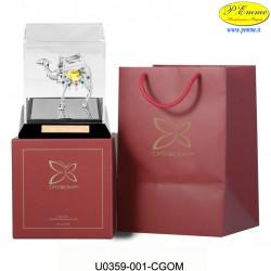 CAMMELLO ARG.CON BOX TRASP.+CONF.DELUXE - CM.15X13 - Elementi SWAROVSKI