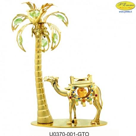 CAMEL WITH PALM GOLD - Swarovski Elements