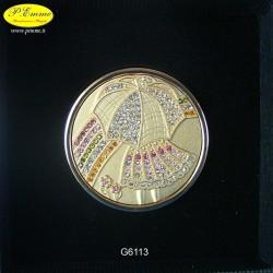 REGGIBORSA GOLD DA TAVOLO - BIMBA OMBRELLO - cm.4,5