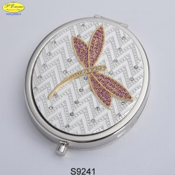 DRAGONFLY MIRROR ART. STRASS SW. - D.cm.6,5