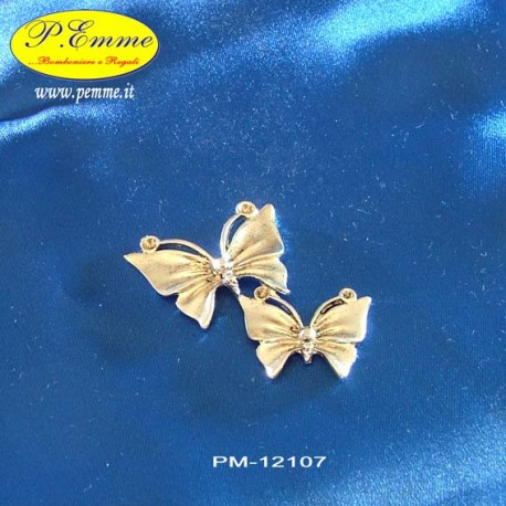 PAIR OF BUTTERFLIES IN ZAMA (MET./ARG.) Cm. 5x4 - Bulk
