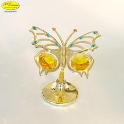FARFALLA GOLD - Cm. 6,5 x 5 - Met.Sw.
