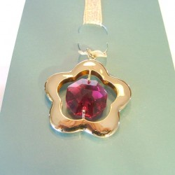 BOOKMARK GOLDEN - cm. 3.5 X 3 (pendant) - Swarovski Elements