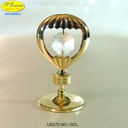 BALLOON GOLD - cm. 6 x 4 - Swarovski Elements