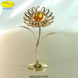 GIRASOLE GOLD - cm. 10x6 - Elementi SWAROVSKI