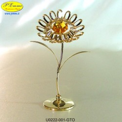 SUNFLOWER GOLD - cm. 10 x 6 - Swarovski Elements