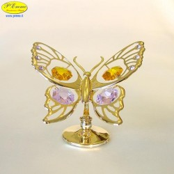 BUTTERFLY LARGE GOLD - Cm. 9 x 8.5 - Swarovski Elements