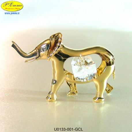 ELEPHANT GOLD MEDIUM - cm. 7x5 - Swarovski Elements