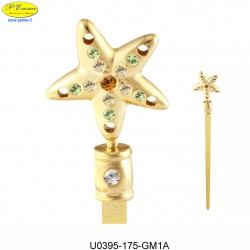 OPENER WITH GOLDEN STARFISH - cm. 16 x 3 - Swarovski Elements