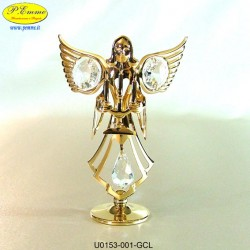 ANGEL WITH CANDLE - cm. 9x7 - Swarovski Elements