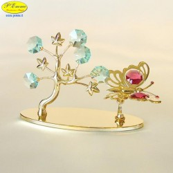 BUTTERFLY TREE WITH GOLD - Cm. 11.5 x 7.5 - Swarovski Elements