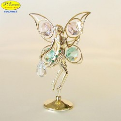 FAIRY WITH ROSE GOLD - Cm. 10.5 x 7 - Swarovski Elements
