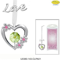 "BOOKMARK ""LOVE"" SILVER - Swarovski Elements"