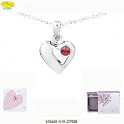NECKLACE PENDANT HEART SILVER - Swarovski Elements