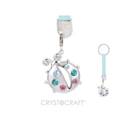 KEY WITH LADYBIRD SILVER - Swarovski Elements