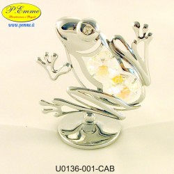 SILVER FROG - Swarovski Elements